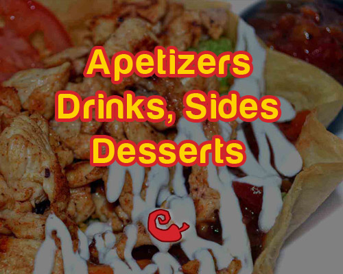 harrisonburg apetizers drinks sides desserts menu