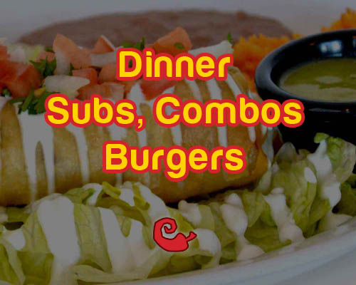 harrisonburg dinner subs combos burgers menu